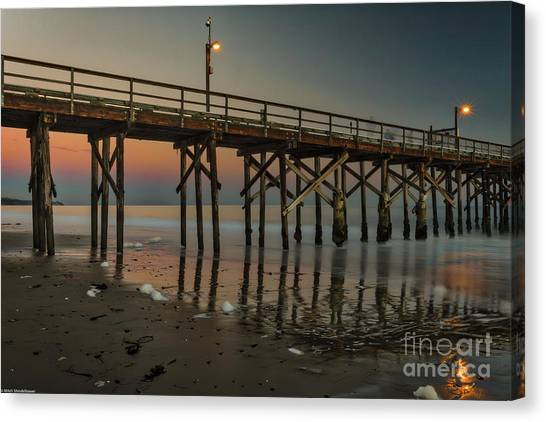Ucsb Canvas Print - Sand Spit Beach Twilight by Mitch Shindelbower