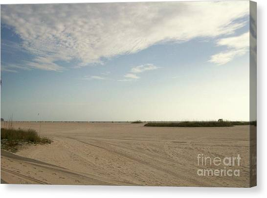 Sand Storm At St. Pete Beach Canvas Print