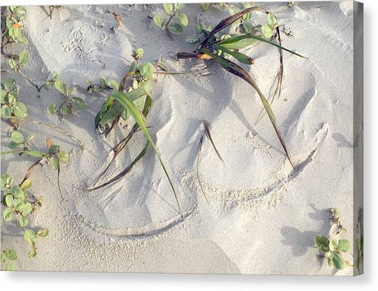 Sand Sumie One Canvas Print by Clyde Replogle