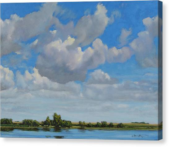 Sandbar Slough July Skies Canvas Print