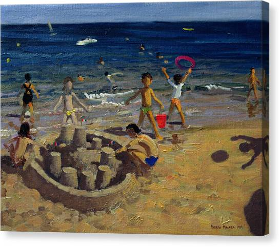 Sandcastle Canvas Print - Sandcastle by Andrew Macara