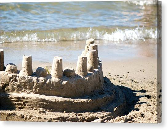 Sand Castles Canvas Print - Sandcastle  by Lisa Knechtel