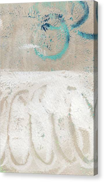 Sands Canvas Print - Sandcastles- Abstract Painting by Linda Woods