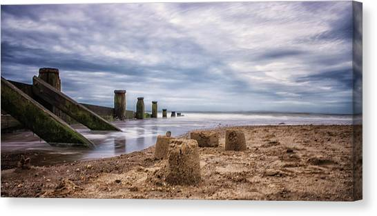 Sand Castles Canvas Print - Sandcastles by Martin Newman