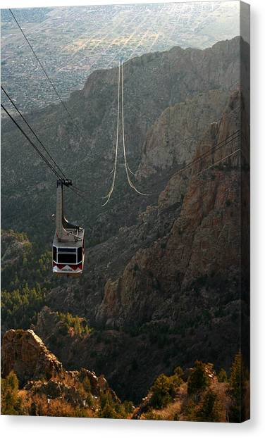 Sandia Peak Cable Car Canvas Print