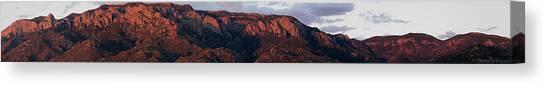 Sandia Sunset Panormaic Canvas Print