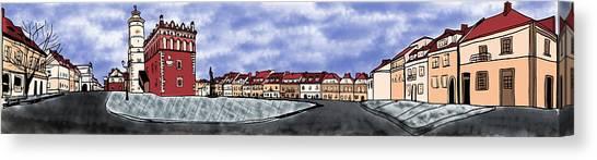 Sandomierz City Canvas Print