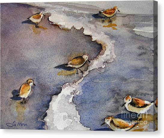 Sandpiper Seashore Canvas Print