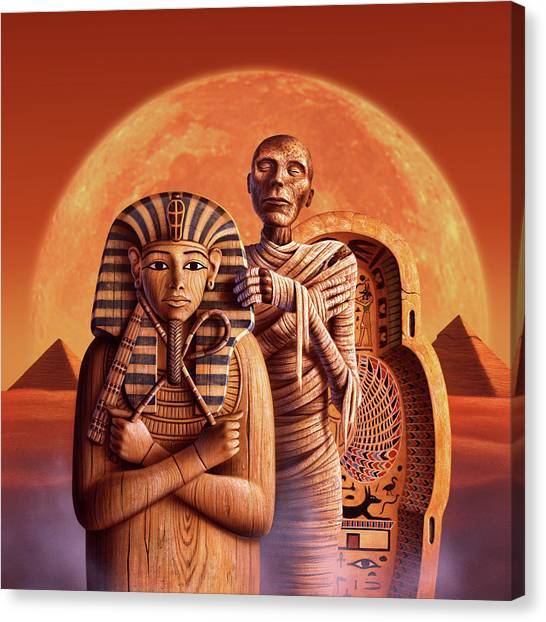 Egyptian Canvas Print - Sands Of Time by Jerry LoFaro