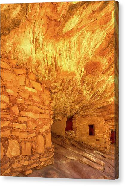 Sandstone Fire Canvas Print