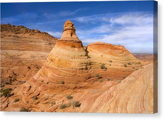 Arizona Coyotes Canvas Print - Sandstone Tent Rock by Mike  Dawson