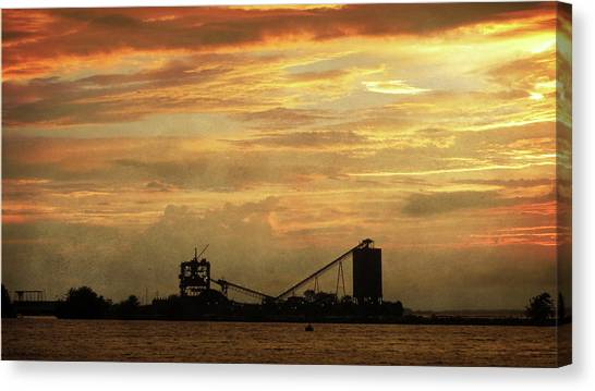 Sandusky Coal Dock Sunset Canvas Print