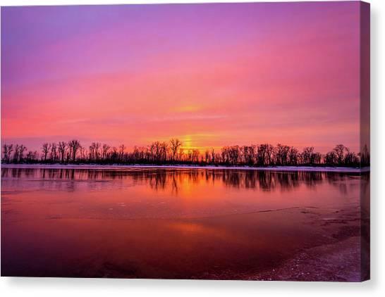 Sandy Chute Sunset Canvas Print