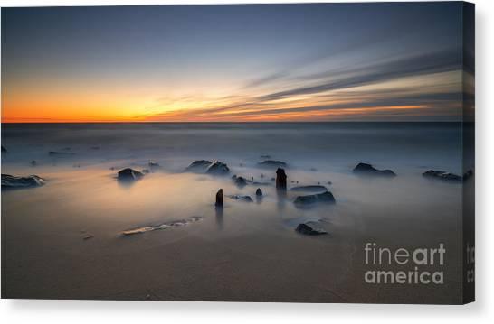 Mv Canvas Print - Sandy Hook Sunrise  by Michael Ver Sprill