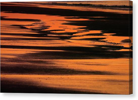 Sandy Reflection Canvas Print