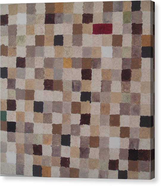 Sandy Squares Canvas Print by Wendy Peat