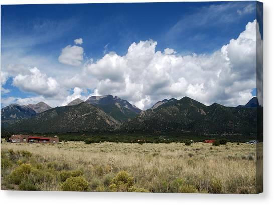 Canvas Print featuring the photograph Sangre De Cristo Mountains 1 by Joseph R Luciano