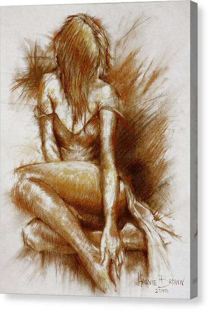 Sanguine Study Canvas Print