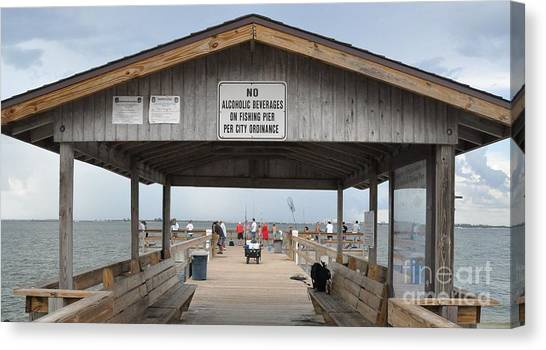 Sanibel Island Fishing Pier Canvas Print