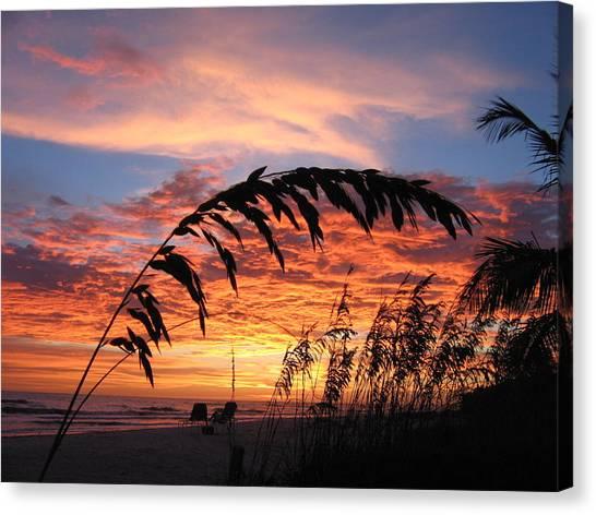Ocean Sunsets Canvas Print - Sanibel Island Sunset by Nick Flavin