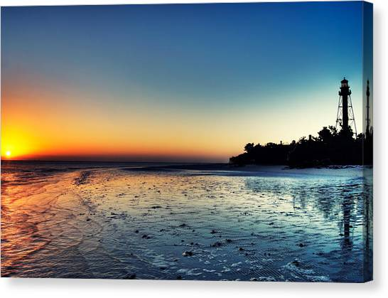 Ocean Sunrises Canvas Print - Sanibel Sunrise by Rich Leighton