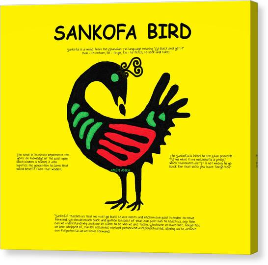 Sankofa Bird Of Knowledge Canvas Print