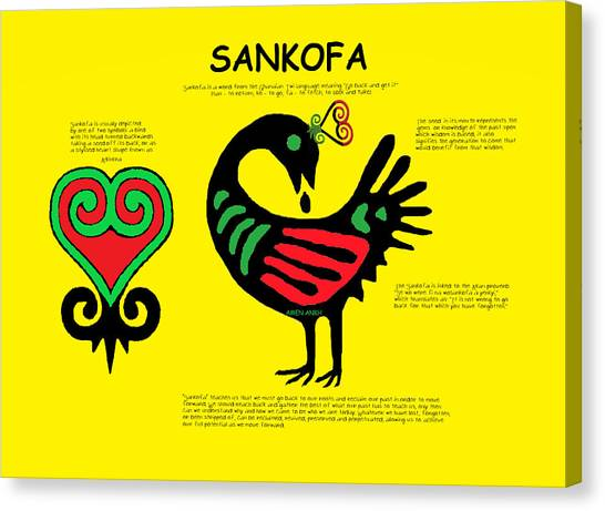 Sankofa Knowledge Canvas Print
