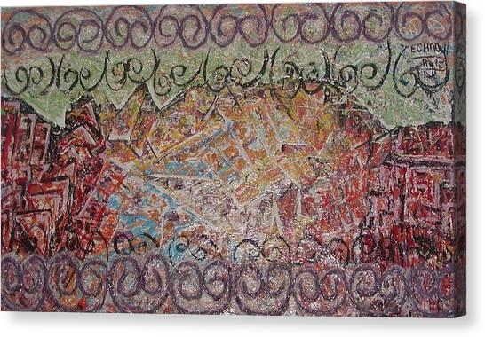 Sans Titre 02 2008 Canvas Print by Halima Echaoui