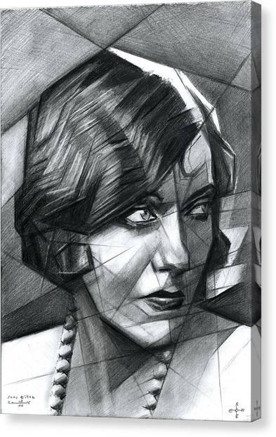 Gloria Swanson Canvas Print - Sans Titre - 08-07-15 by Corne Akkers