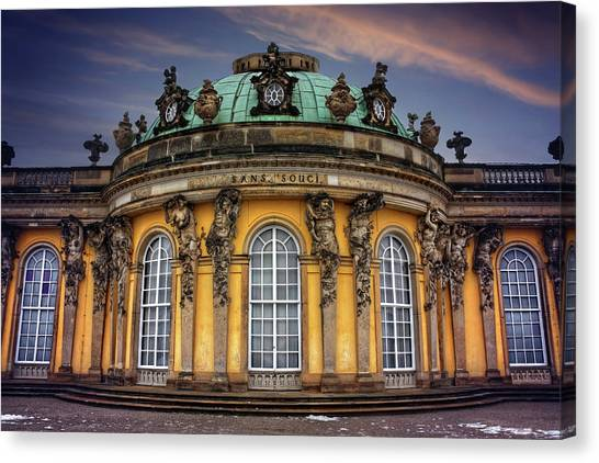 Rococo Art Canvas Print - Sanssouci Palace In Potsdam Germany  by Carol Japp