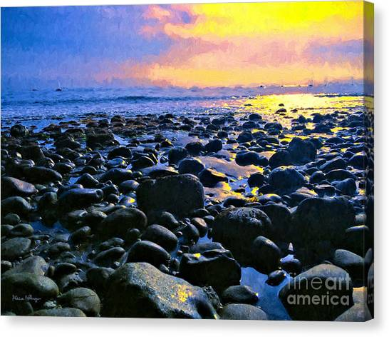 Santa Barbara Beach Sunset California Canvas Print