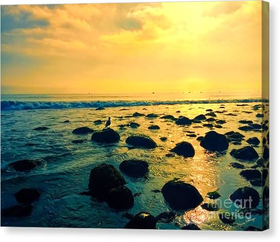 Santa Barbara California Ocean Sunset Canvas Print