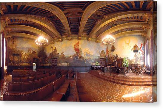 Santa Barbara Court House Mural Room Photograph Canvas Print