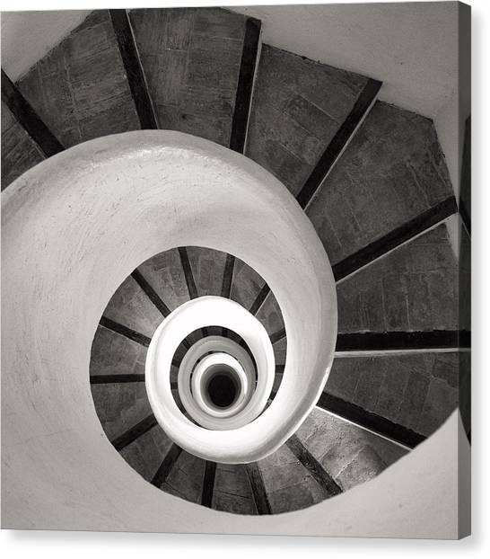Santa Catalina Spiral Staircase Canvas Print