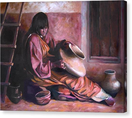 Santa Clara Potter Canvas Print
