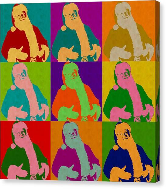 Santa Claus Andy Warhol Style Canvas Print