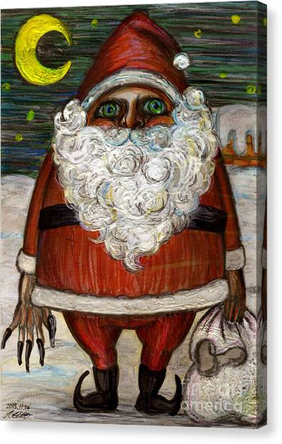 Santa Claus By Akiko Canvas Print