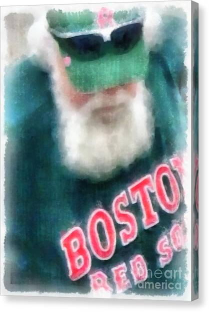 Boston Red Sox Canvas Print - Santa Claus Spotted At Spring Training by Edward Fielding