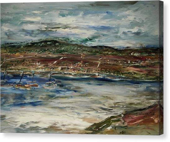 Santa Cruz Bay Canvas Print by Edward Wolverton