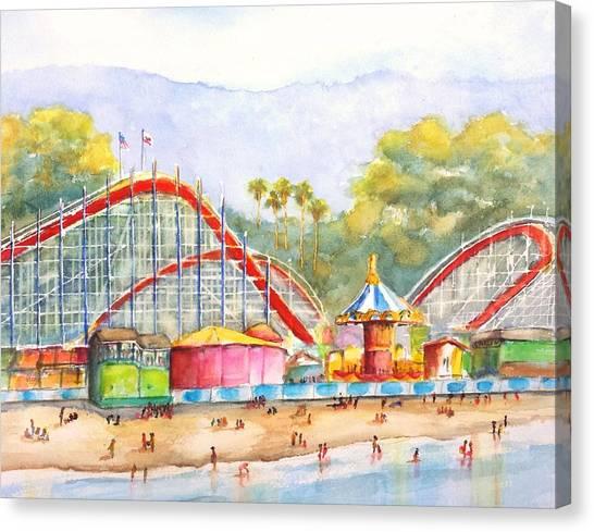 Santa Cruz Beach Boardwalk Canvas Print