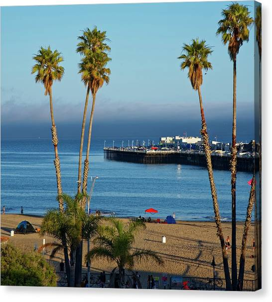 Santa Cruz Beach Canvas Print
