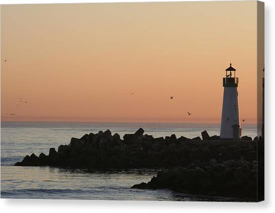 Santa Cruz Harbor Lighthouse Canvas Print