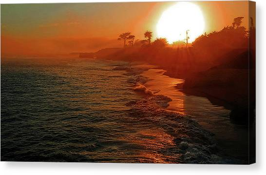 Santa Cruz Sunset Canvas Print