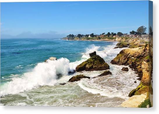 Santa Cruz Wave Spray Canvas Print