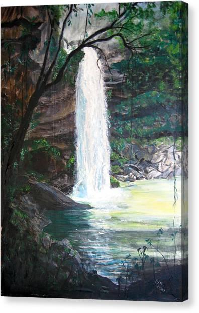 Santa Emelia Waterfall Canvas Print