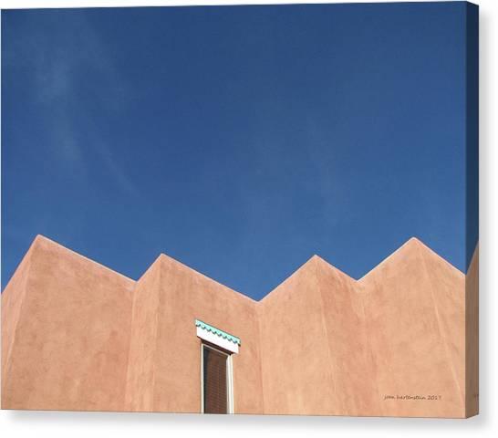 Santa Fe Angles, Blue Sky Canvas Print