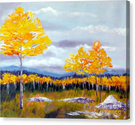 Santa Fe Aspens Series 8 Of 8 Canvas Print