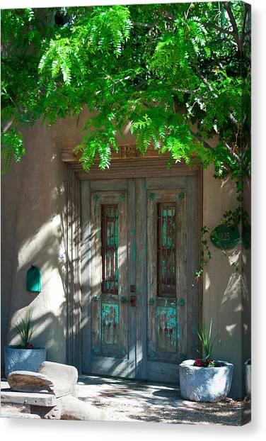 Santa Fe Door Canvas Print