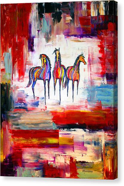 Santa Fe Dreams Horses Canvas Print