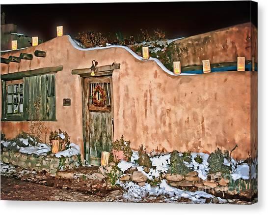 Santa Fe Farolitos Canvas Print